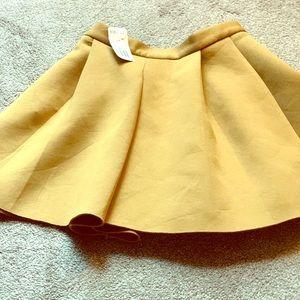 Tan Mini Skirt